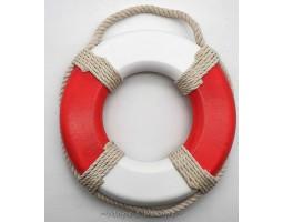 декор Спасательный круг, 25см, натуральное дерево RED