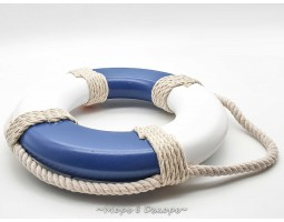 декор Спасательный круг, 25см, натуральное дерево blue