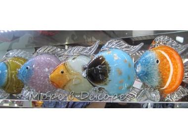 Морская рыбка. Стеклянная фигурка в стиле Мурано. Высота 21 см А