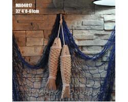 Декоративные деревянные рыбы 55 см  (комплект 2шт)  Nature