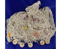 декоративная рыболовная Сеть 4х2 метра белый цвет, ракушки, поплавки