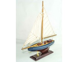 Яхта настольная, 34 см, дерево, парусина