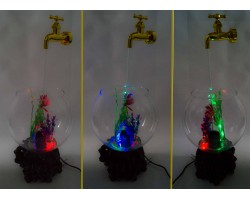 Фонтан настольный Аквариум, магический кран, подсветка