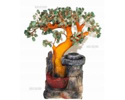 """Фонтан настольный """"Нефритовое дерево"""", 35см, подсветка"""