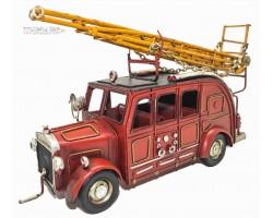 Ретро модель пожарной машины с лестницей