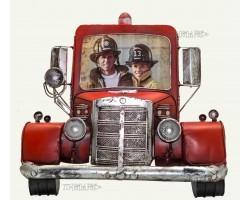 Фоторамка металлическая  Пожарная машина