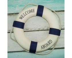 декоративный Спасательный круг 35 см синий