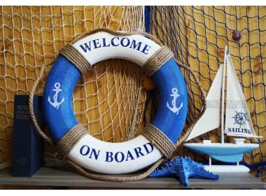 Декоративный спасательный круг 50 см Оригинальный,синий  цвет