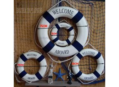 декоративный Спасательный круг 35 см красный