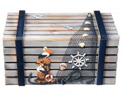 Комплект морских сундучков (4 штуки) серый цвет