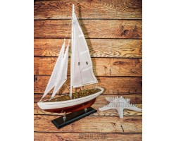 Модель яхты из дерева, 50 см