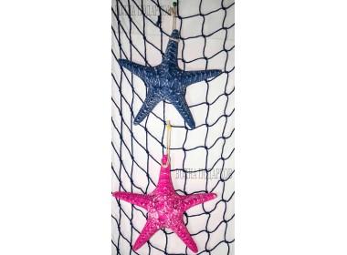 Декоративная Морская звезда  22 см (комплект 2шт) синяя розовая