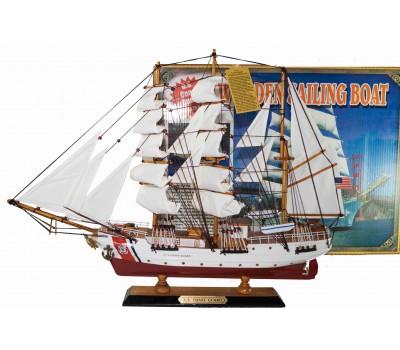 Модель корабля Us Coast Guard, 50см, дерево