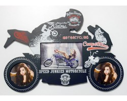 """Фоторамка-коллаж """"Мотоциклист"""" на 3 фото"""