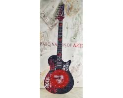 """Часы настенные """"Рок гитара"""" с декоративной вешалкой."""
