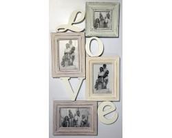 """Фоторамка-коллаж """"Love"""" на 4 фотографии"""