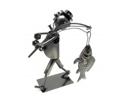 Фигурка из металла Рыбак с рыбиной