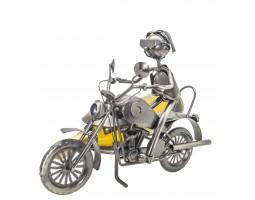 Лихой Мотоциклист  Подставка для  бутылки металл