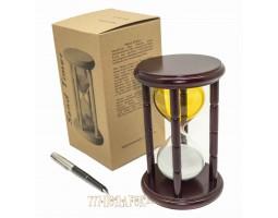 Часы песочные 15 минут желто-белые VP-STW4015Y