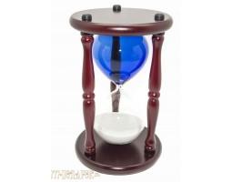 """Часы песочные 30 минут  """"БИЗНЕС""""  синяя колба, белый песок"""