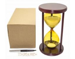 Часы песочные 30 минут белый песок, желтая колба VP-STW8025AM