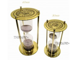 Часы песочные 30 минут «Лондон»  золото