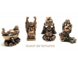 """статуэтки """"Хотей"""" , 6см, комплект из 4 шт"""