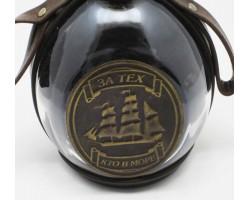 """Набор для напитков """"За тех кто в море"""" в натуральной коже!"""