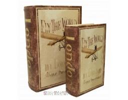 """Набор из двух книг шкатулок """"Аэроплан"""""""