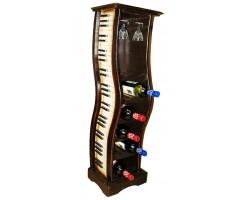Подставка декоративная  Фортепьяно -  держатель для 12 бутылок и фужеров