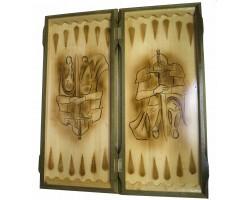 Нарды резные Клятва Рыцаря 54х25 см