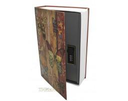 Книга сейф с кодовым замком Butterfly| 18см