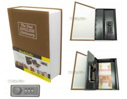 Книга сейф с кодовым замком The new english dictionary Golden| 18см