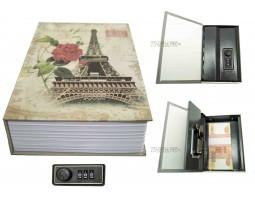 Книга сейф с кодовым замком PARIS| 18см