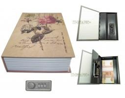 Книга сейф с кодовым замком Rose| 18см
