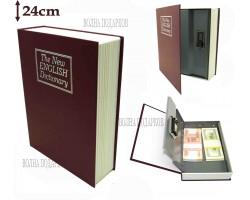 Книга сейф с кодовым замком  The new english dictionary BORDO| 24см