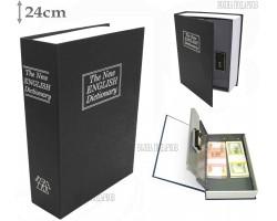 Книга сейф с кодовым замком  The new english dictionary BLACK| 24см