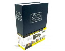 "Книга сейф ""БИЗНЕС""  с кодовым замком  ""The new english dictionary"" BLUE | 27см"