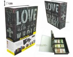 Книга сейф с кодовым замком Love| 27см