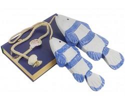 Декоративные деревянные рыбы 44 см (комплект 2шт) BLUE