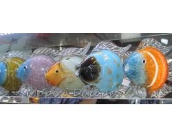 Золотая рыбка. Стеклянная фигурка в стиле Мурано. 23 см