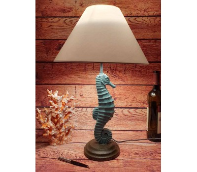 Лампа настольная Морской конек 54см