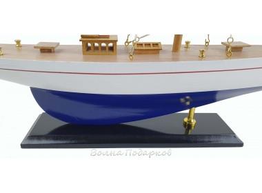 Модель яхты из дерева, 56 см BLUE