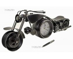 Мотоцикл с двумя часами 60 см, металл