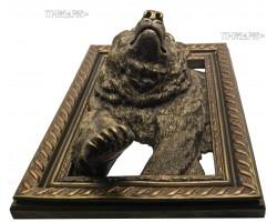 Панно объемное Медведь , 45Х32 см
