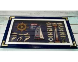 Панно морские узлы Яхта  70x42 см