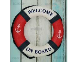 Декоративный спасательный круг 50 см Оригинальный, красный цвет