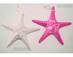 Декоративная Морская звезда  22 см (комплект 2шт) белая,розовая