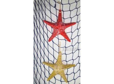 Декоративная Морская звезда  22 см (комплект 2шт) желтая, красная