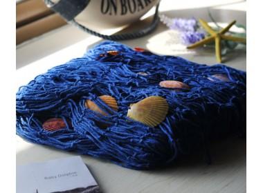декоративная морская Сеть  2х1.5м  синий  цвет